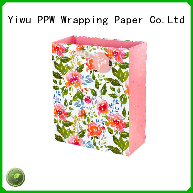 PPW hot selling paper bags with handles wholesale for festival