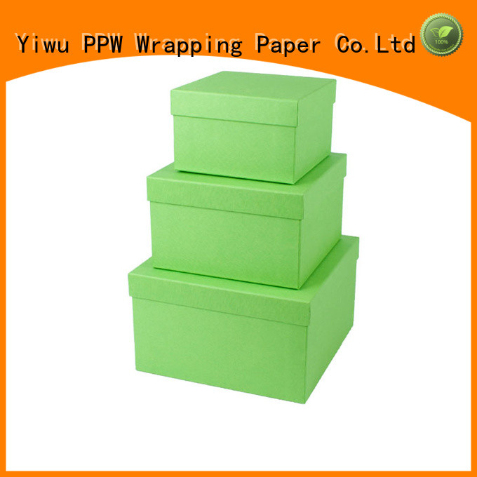 PPW cardboard gift boxes manufacturer for festival