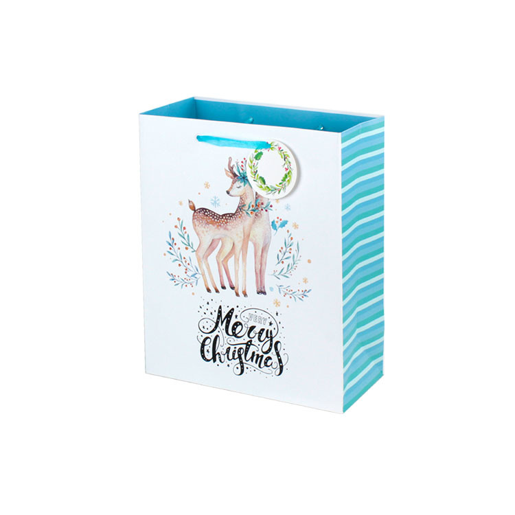 Christmas Gift Bag Punch Handle Style Paper Bags Online On Sale