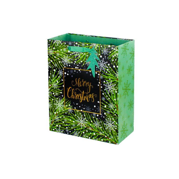 Christmas Gift Bag Punch Handle Style Large Christmas Bags For Sale