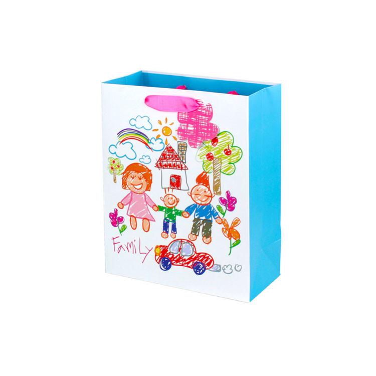 Children's Day Gift Bag Bulk Punch Handle Style Custom Gift Bags