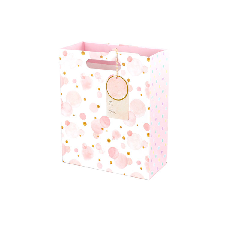 Valentine Small Gift Bag Punch Handle Style Kraft Paper Bags