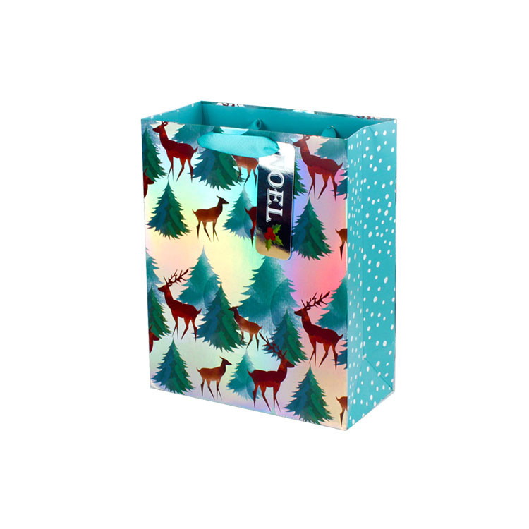Animal Paper Gift Bags With Handles Punch Handle Style Coloured Paper Bags