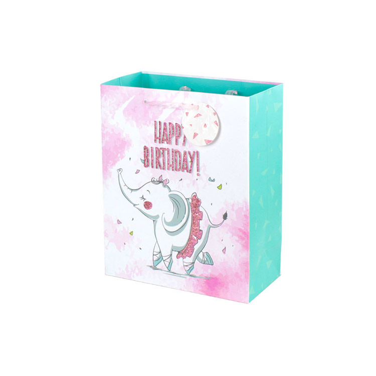 Birthday Paper Gift Bag Punch Handle Style Coloured Paper Bags