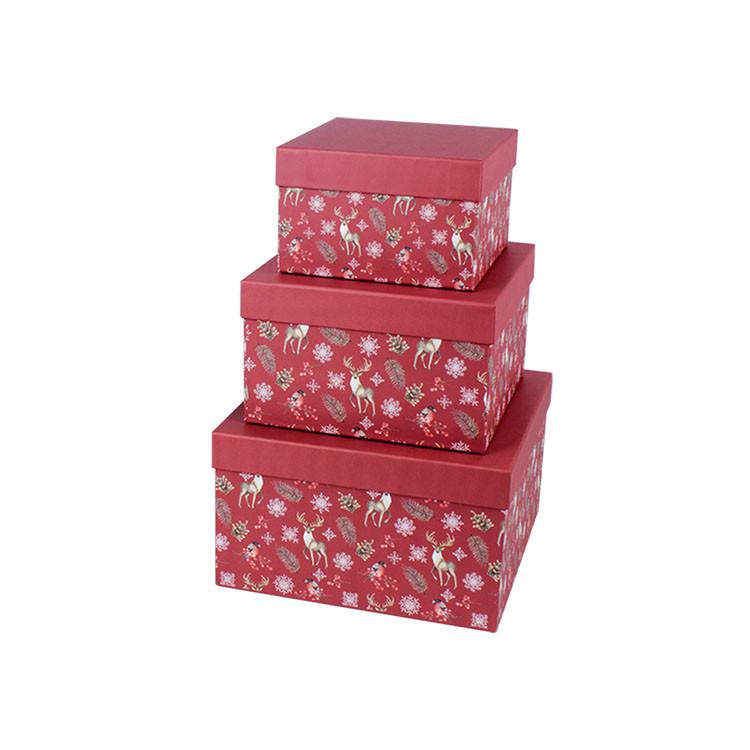 Christmas Print Gift Box Cardboard Gift Box Custom