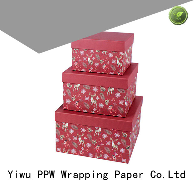 PPW cost-effective cardboard gift boxes supplier for Valentine