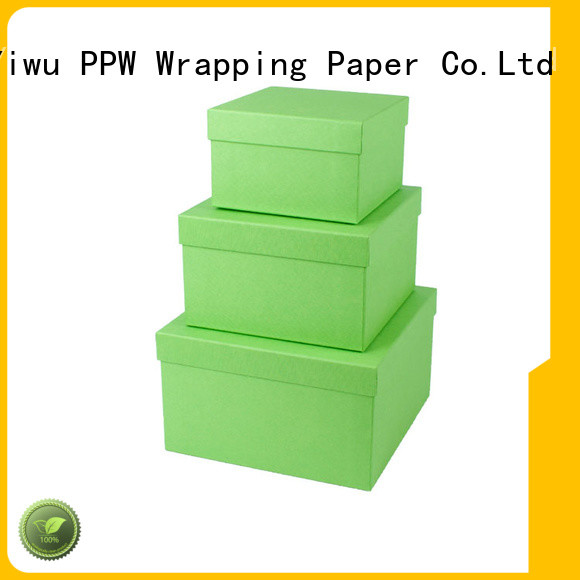 PPW gift box with lid supplier for Valentine