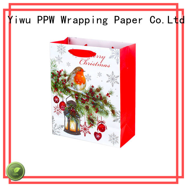 PPW hot selling white gift bags personalized