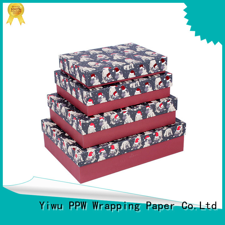 PPW custom gift boxes wholesale for Christmas