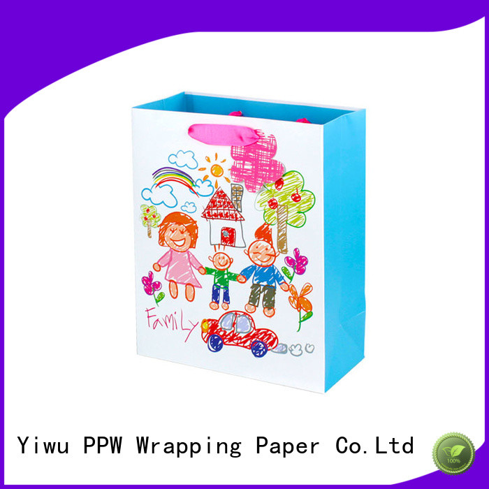 PPW kraft paper bags factory price for festival