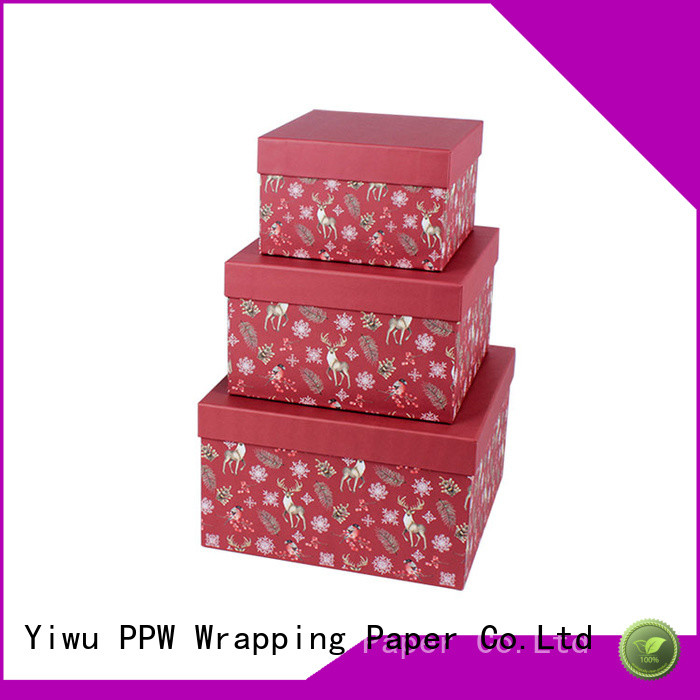 PPW gift card box wholesale for Christmas