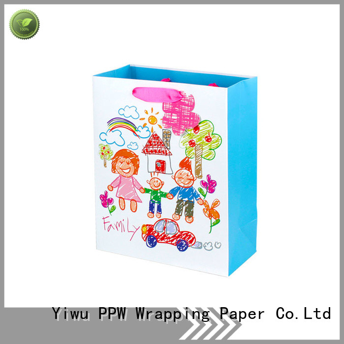 PPW custom black gift bags factory price for advertising
