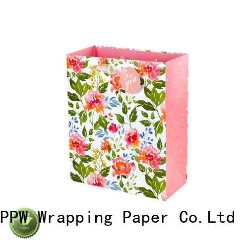 PPW popular kraft paper bags wholesale for festival