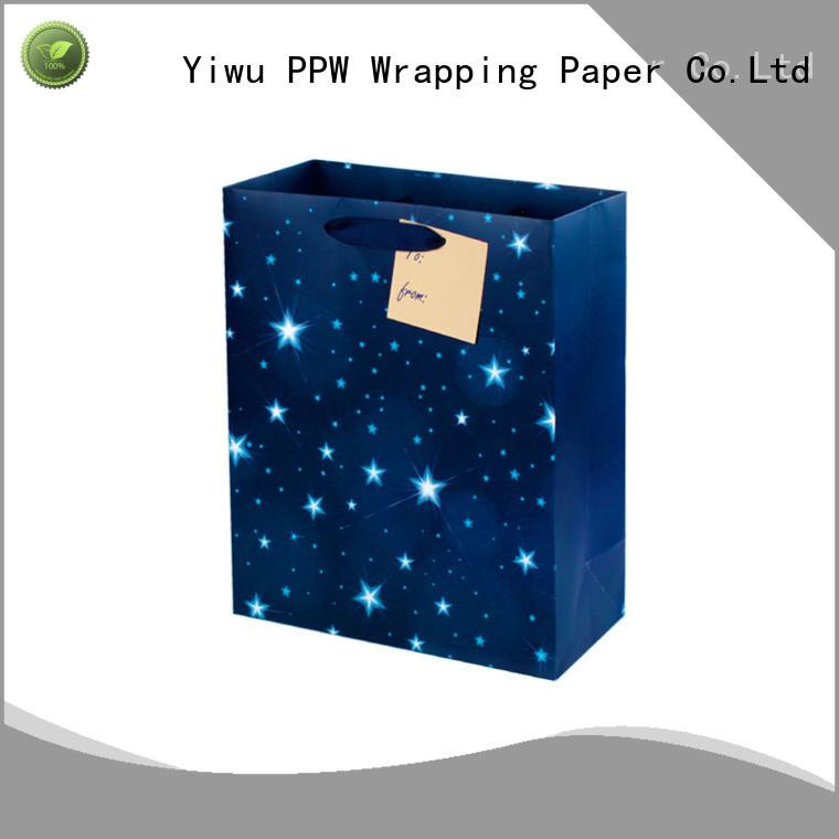 PPW custom kraft paper bags supplier for festival
