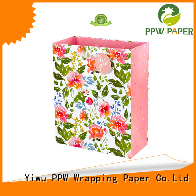 PPW paper bags with handles personalized for wedding