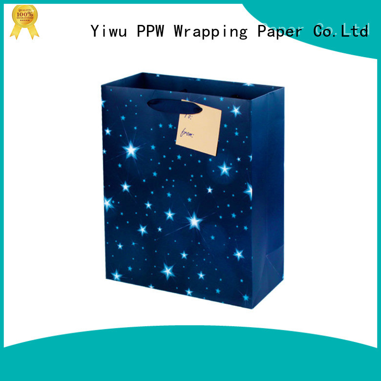 PPW quality black gift bags supplier for advertising
