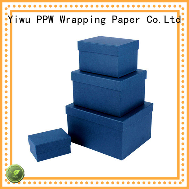 PPW top quality round box supplier for festival