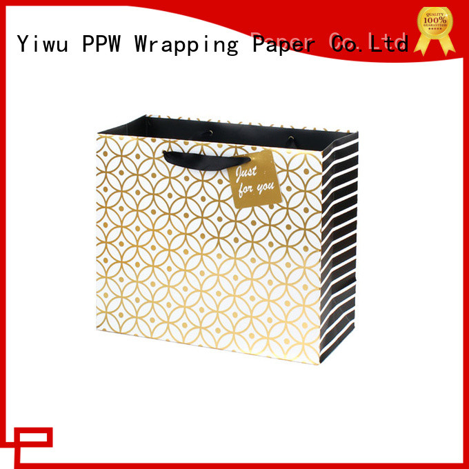 PPW paper gift bags factory price for wedding