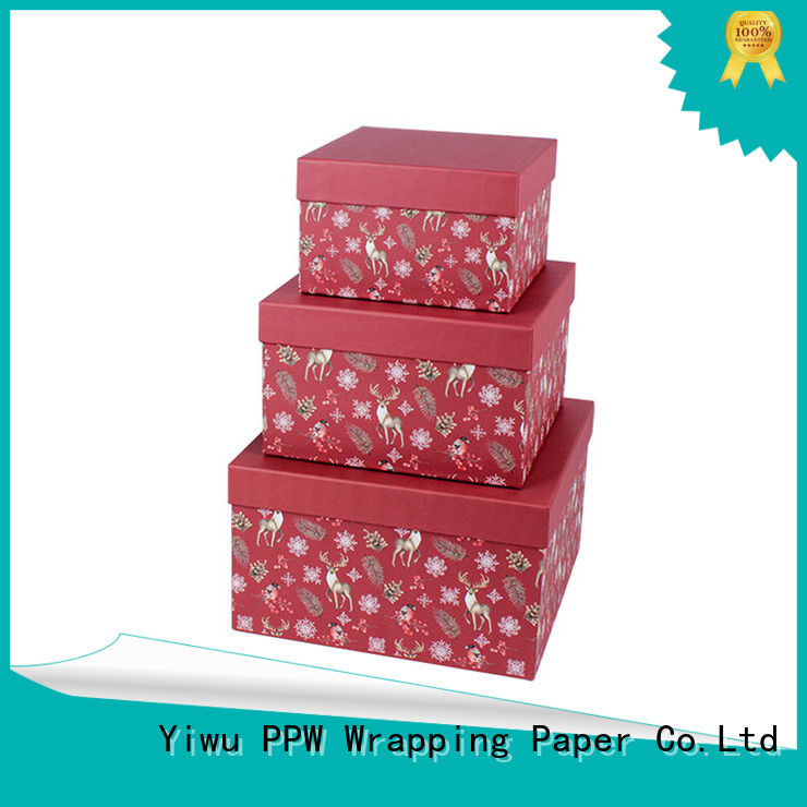 PPW gift card box wholesale for festival