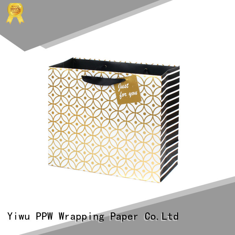 PPW paper bags with handles wholesale for festival