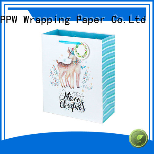 PPW hot selling kraft paper bags factory price for birthday