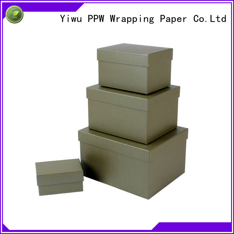 PPW top quality folding box wholesale for birthday