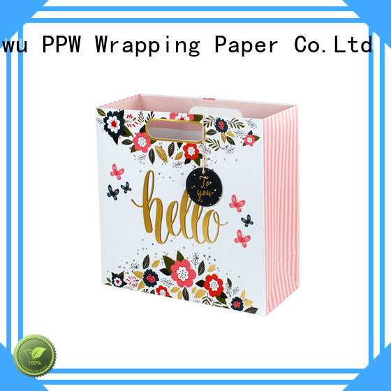 PPW paper shopping bags supplier for advertising