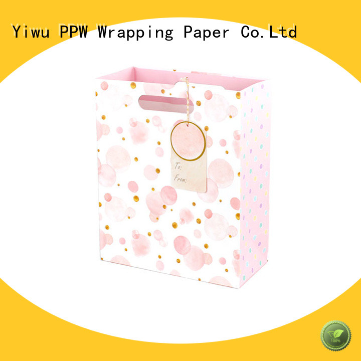 PPW hot selling paper gift bags personalized for festival