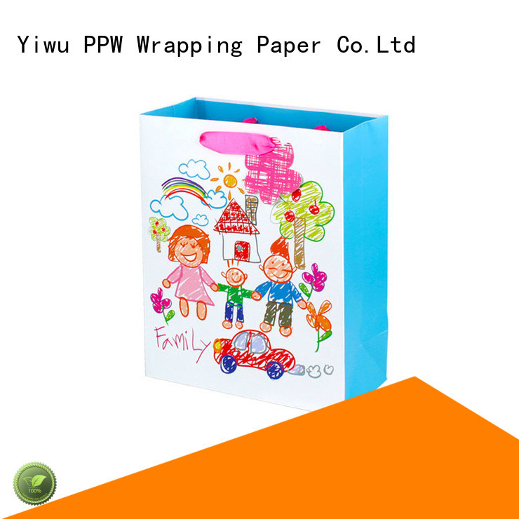 PPW hot selling kraft bags personalized for festival
