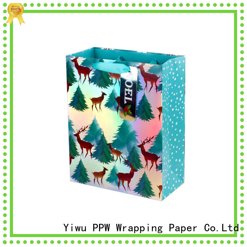 PPW christmas gift bags wholesale for wedding