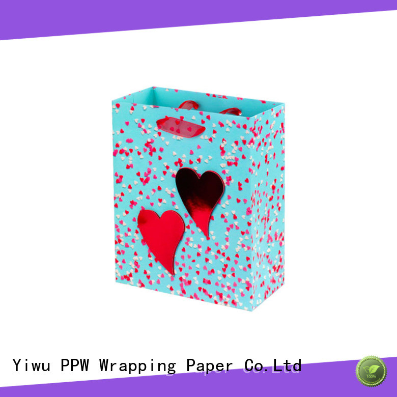 PPW quality custom gift bags factory price for birthday