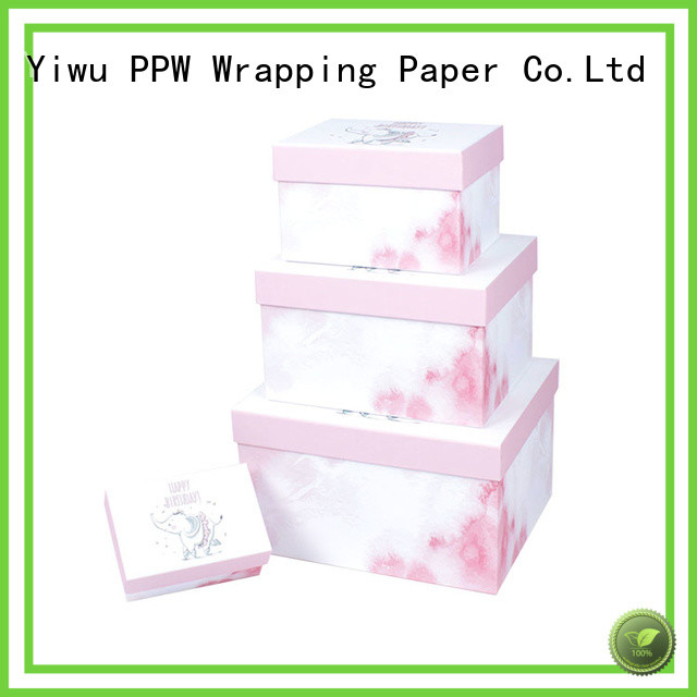 PPW eco-friendly cardboard packaging supplier for birthday