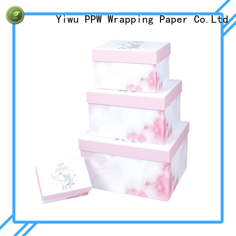 PPW gift box with lid wholesale for Christmas