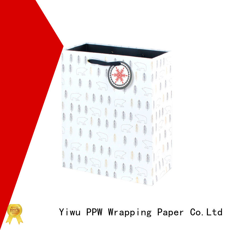 PPW paper shopping bags wholesale for festival