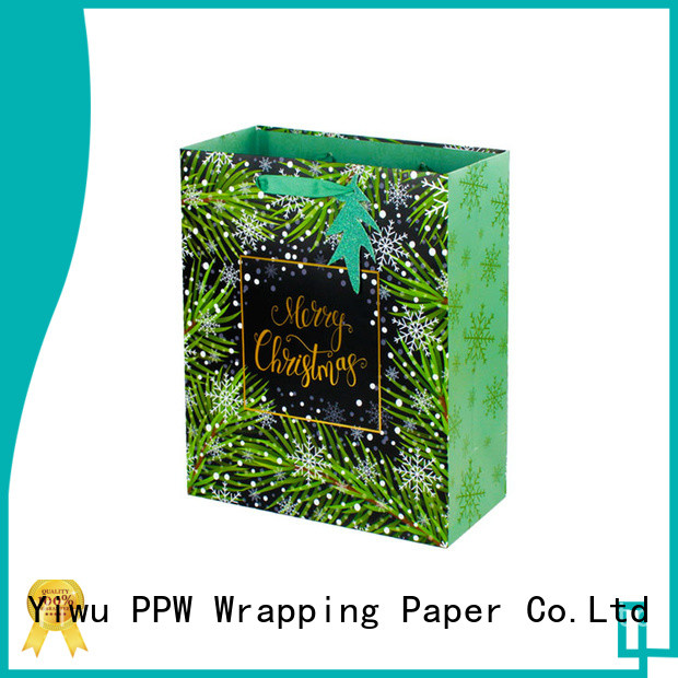 PPW personalised gift bags factory price for advertising