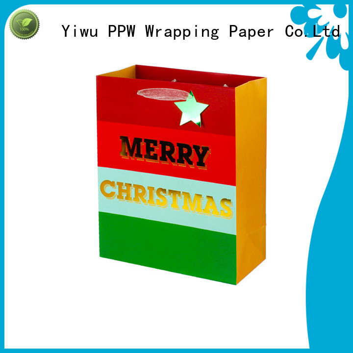 PPW hot selling paper gift bags factory price for wedding