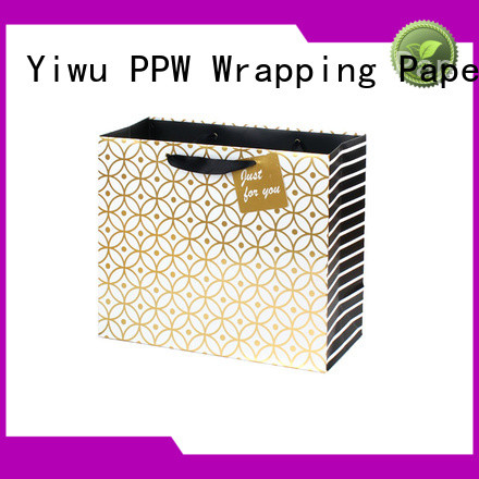 PPW popular paper gift bags wholesale for wedding
