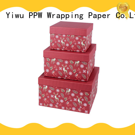 PPW top quality cosmetic box manufacturer for Christmas