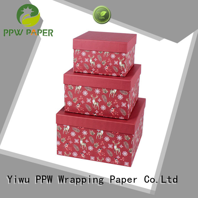 PPW eco-friendly birthday gift box manufacturer for birthday