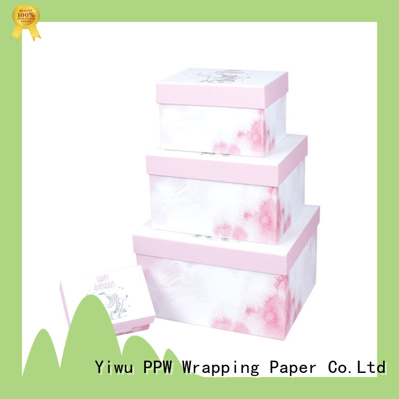 PPW box packaging manufacturer for birthday
