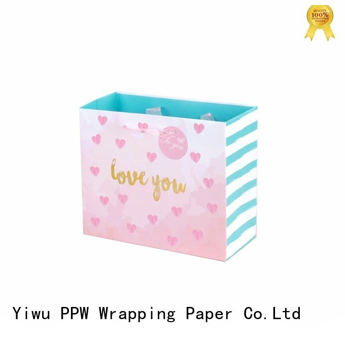 PPW custom christmas bags factory price for birthday