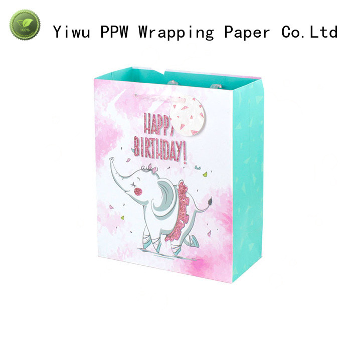 PPW custom small paper bags personalized for wedding