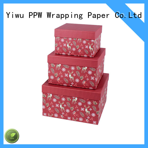 PPW custom gift boxes supplier for Christmas