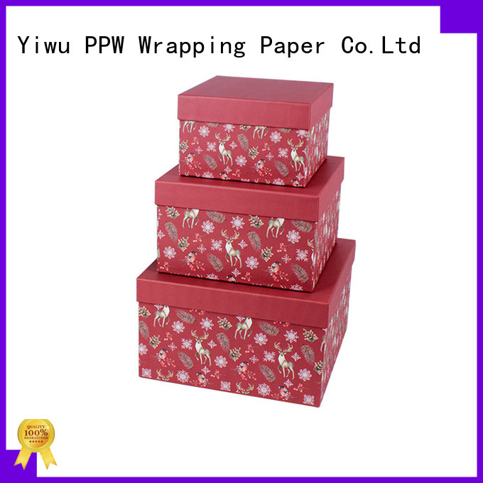 PPW cost-effective cardboard gift boxes on sale for Christmas