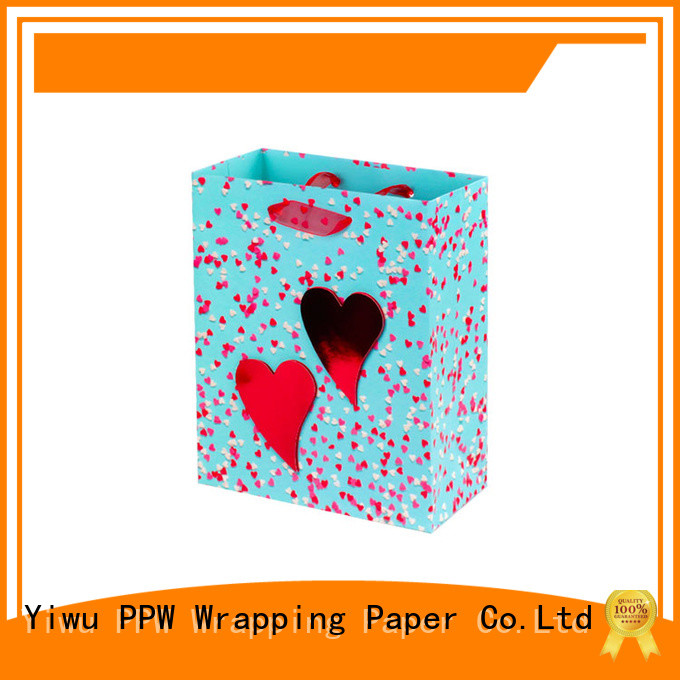 PPW professional paper gift bags factory price for festival