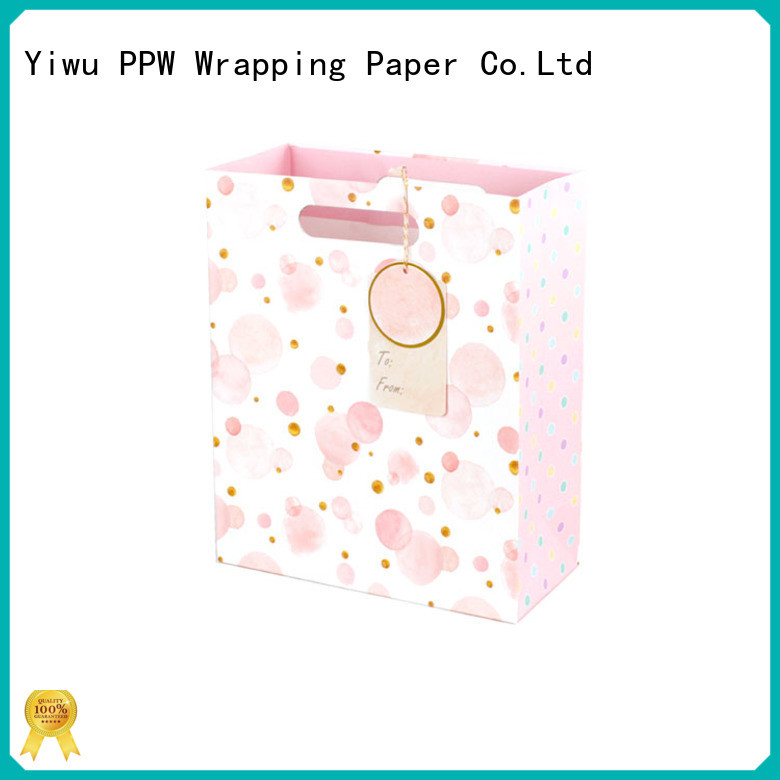 PPW custom kraft paper bags wholesale for birthday