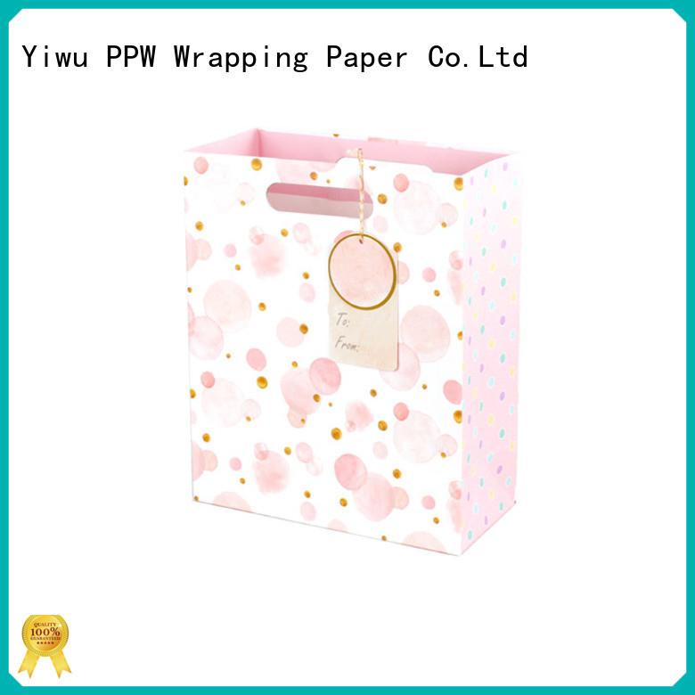 PPW custom kraft paper bags wholesale for birthday