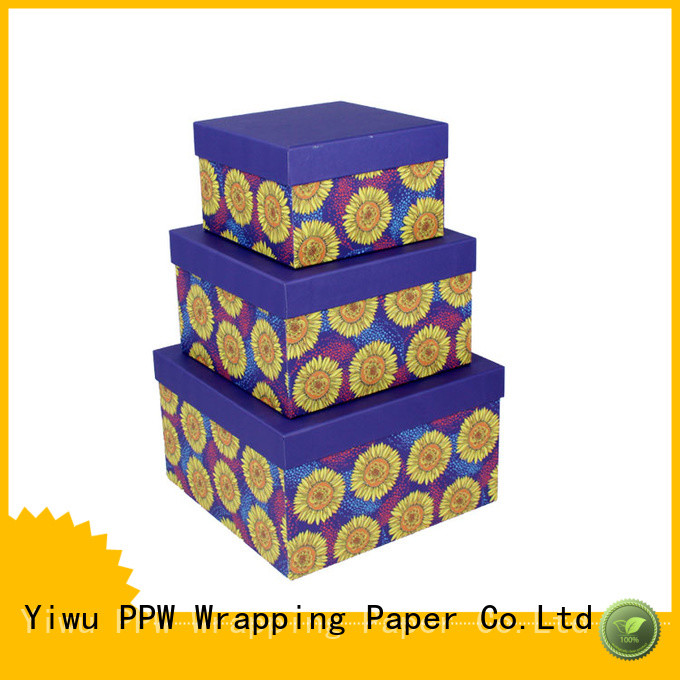 PPW cost-effective gift box with lid wholesale for festival