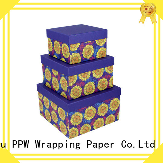 PPW cardboard gift boxes wholesale for Christmas