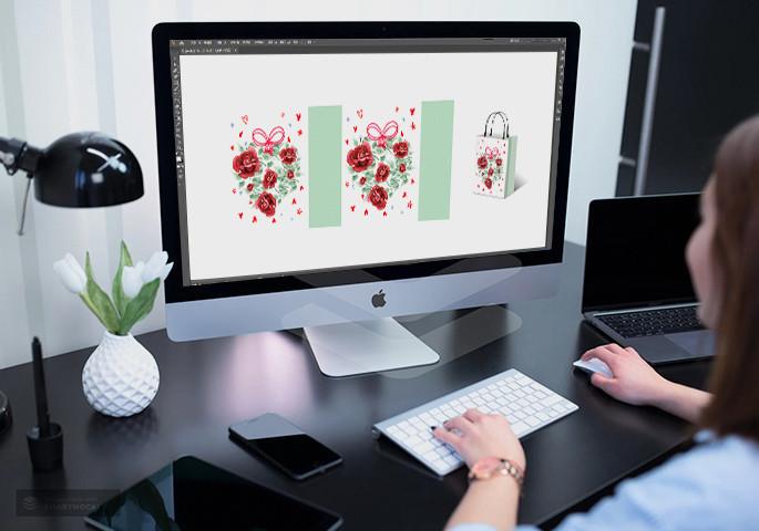 fashion design and custom gift bag